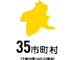 35市町村(平成30年10月1日時点)